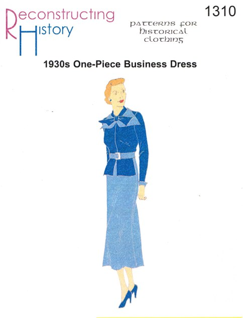 "Image for RH1310: 1930S ONE-PIECE ""BUSINESS"" DRESS"