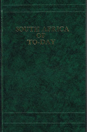 Image for SOUTH AFRICA OF TO-DAY (1898)