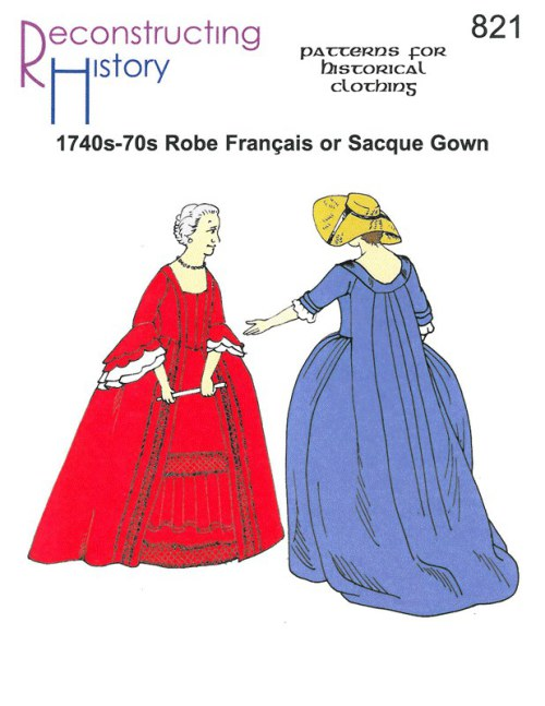 Image for RH821: 1740S - 70S ROBE FRANÇAIS OR SACQUE GOWN