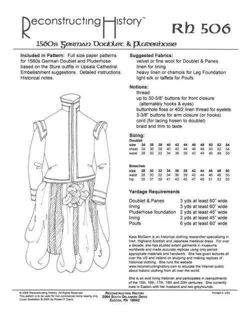 Image for RH506: 1560S GERMAN DOUBLET AND PLUDERHOSE