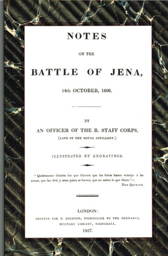 Image for NOTES ON THE BATTLE OF JENA 14TH OCTOBER 1806
