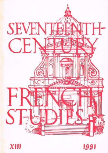 Image for SEVENTEENTH CENTURY FRENCH STUDIES NO.13 (1991)