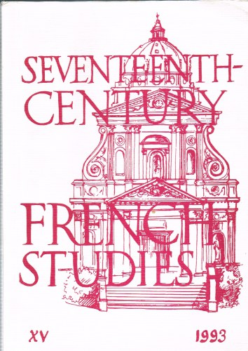 Image for SEVENTEENTH CENTURY FRENCH STUDIES NO.15 (1993)