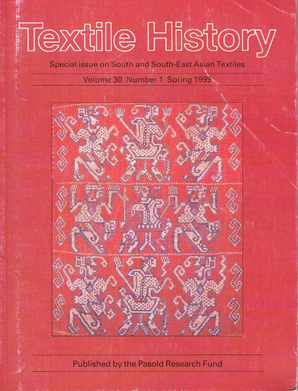 Image for TEXTILE HISTORY VOLUME 30, NUMBER 1 SPRING 1999