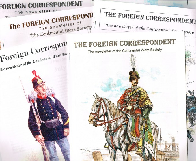 Image for THE FOREIGN CORRESPONDENT: THE NEWSLETTER OF THE CONTINENTAL WARS SOCIETY (BACK ISSUES AVAILABLE)