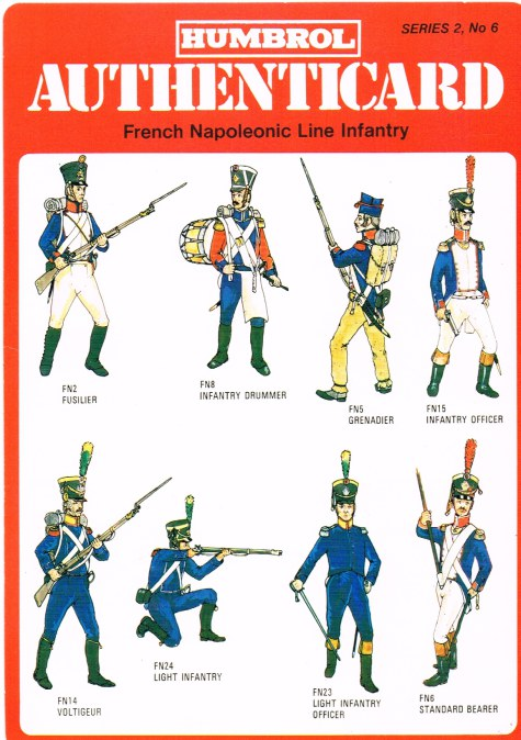 Image for HUMBROL AUTHENTICARD SERIES 2, NO.6: FRENCH NAPOLEONIC LINE INFANTRY