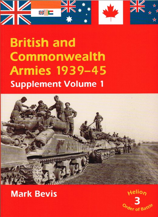 Image for BRITISH AND COMMONWEALTH ARMIES 1939-45: SUPPLEMENT VOLUME 1