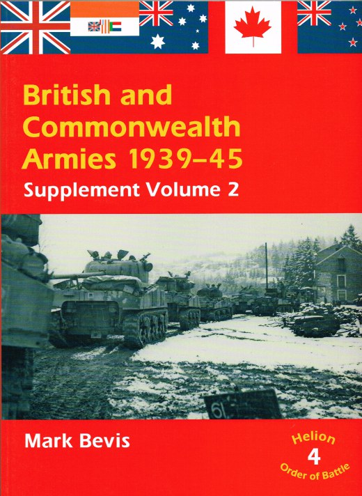 Image for BRITISH AND COMMONWEALTH ARMIES 1939-45: SUPPLEMENT VOLUME 2