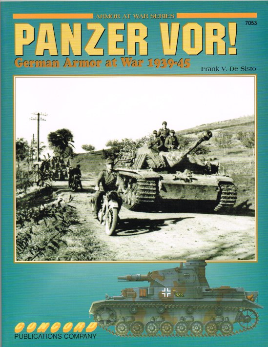 Image for PANZER VOR! : GERMAN ARMOR AT WAR 1939-45