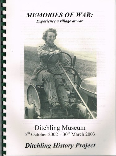 Image for MEMOIRS OF WAR: EXPERIENCE A VILLAGE AT WAR - DITCHLING MUSEUM, 5TH OCTOBER 2002 - 30TH MARCH 2003