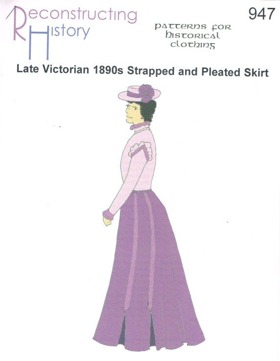 Image for RH947: LATE VICTORIAN 1890S STRAPPED AND PLEATED SKIRT