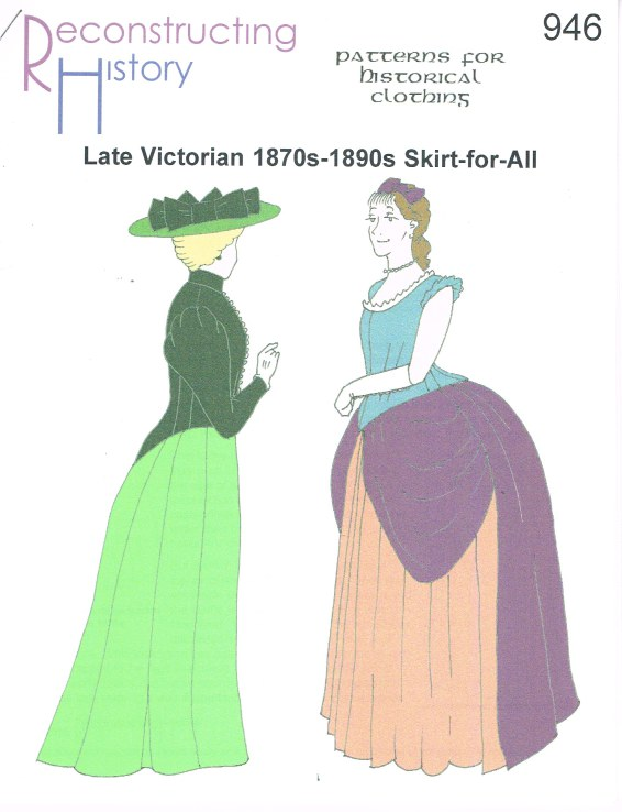 Image for RH946: LATE VICTORIAN 1870S-1880S SKIRT-FOR-ALL