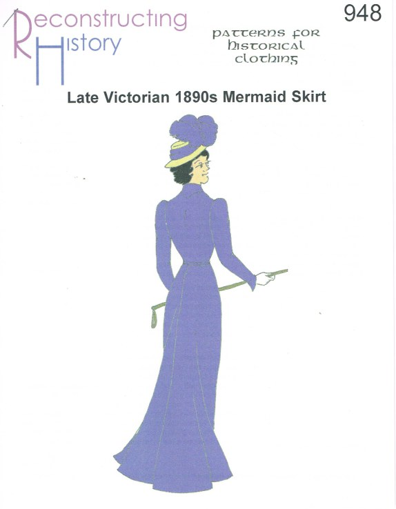 Image for RH948: LATE VICTORIAN 1890S MERMAID SKIRT