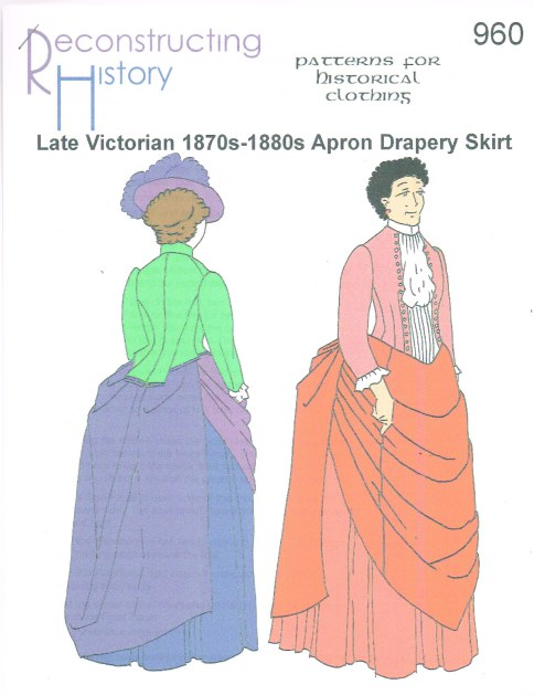 Image for RH960: LATE VICTORIAN 1870S-1880S APRON DRAPERY SKIRT