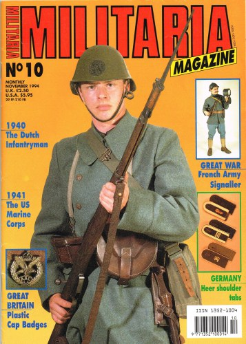 Image for MILITARIA MAGAZINE NO 10 : NOVEMBER 1994