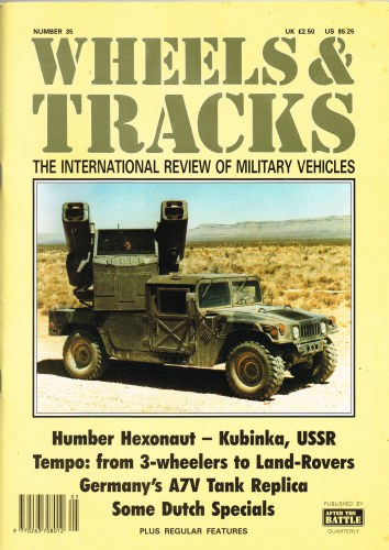 Image for WHEELS & TRACKS: THE INTERNATIONAL REVIEW OF MILITARY VEHICLES: NUMBER 35
