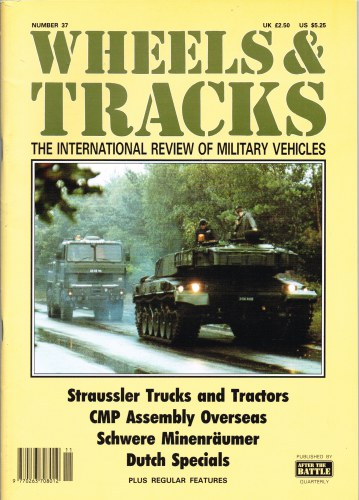 Image for WHEELS & TRACKS: THE INTERNATIONAL REVIEW OF MILITARY VEHICLES: NUMBER 37