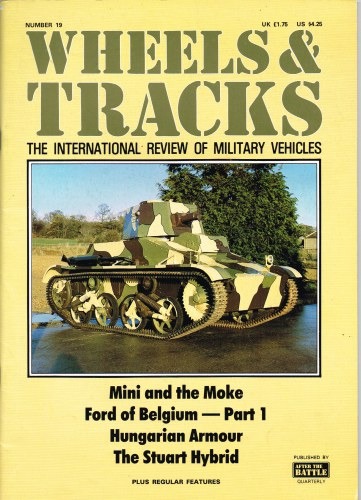 Image for WHEELS & TRACKS: THE INTERNATIONAL REVIEW OF MILITARY VEHICLES: NUMBER 19