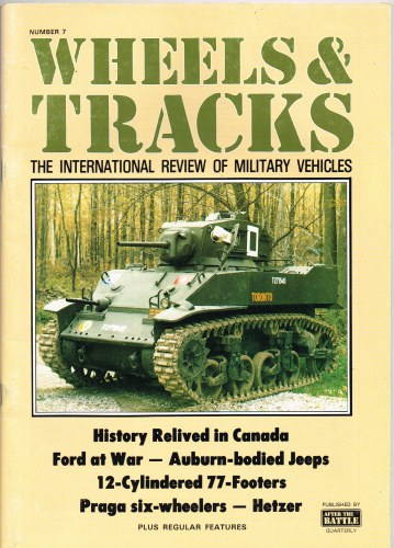 Image for WHEELS & TRACKS: THE INTERNATIONAL REVIEW OF MILITARY VEHICLES: NUMBER 7