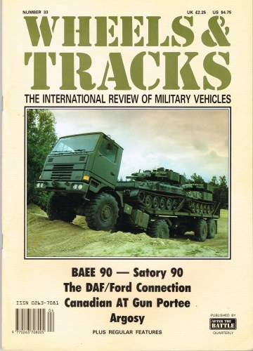 Image for WHEELS & TRACKS: THE INTERNATIONAL REVIEW OF MILITARY VEHICLES: NUMBER 33