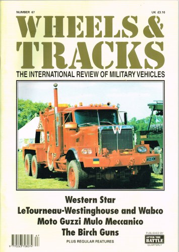 Image for WHEELS & TRACKS: THE INTERNATIONAL REVIEW OF MILITARY VEHICLES: NUMBER 67