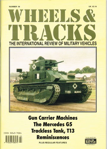 Image for WHEELS & TRACKS: THE INTERNATIONAL REVIEW OF MILITARY VEHICLES: NUMBER 58