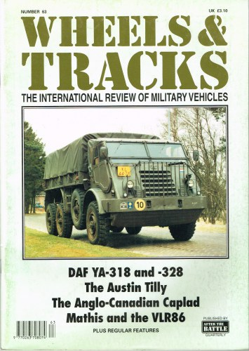Image for WHEELS & TRACKS: THE INTERNATIONAL REVIEW OF MILITARY VEHICLES: NUMBER 63