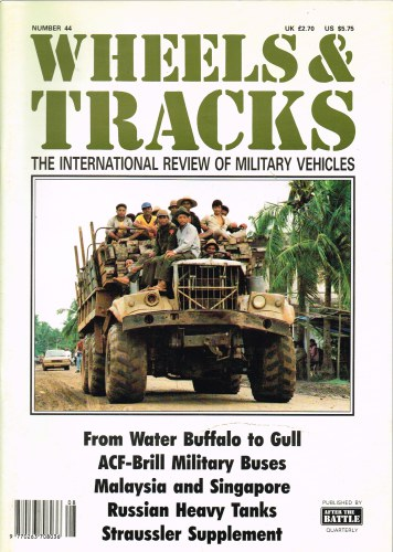 Image for WHEELS & TRACKS: THE INTERNATIONAL REVIEW OF MILITARY VEHICLES: NUMBER 44