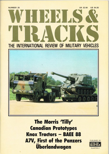 Image for WHEELS & TRACKS: THE INTERNATIONAL REVIEW OF MILITARY VEHICLES: NUMBER 25