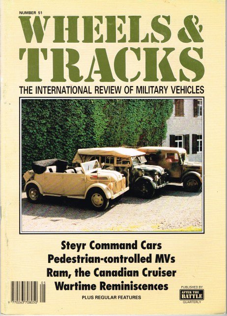 Image for WHEELS & TRACKS: THE INTERNATIONAL REVIEW OF MILITARY VEHICLES: NUMBER 51