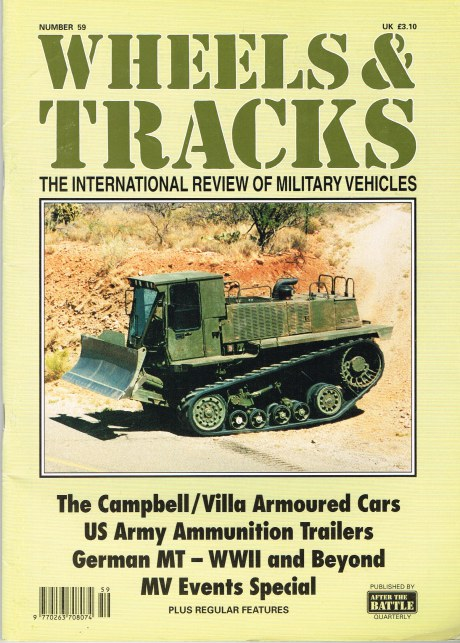 Image for WHEELS & TRACKS: THE INTERNATIONAL REVIEW OF MILITARY VEHICLES: NUMBER 59