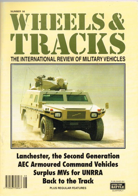 Image for WHEELS & TRACKS: THE INTERNATIONAL REVIEW OF MILITARY VEHICLES: NUMBER 56