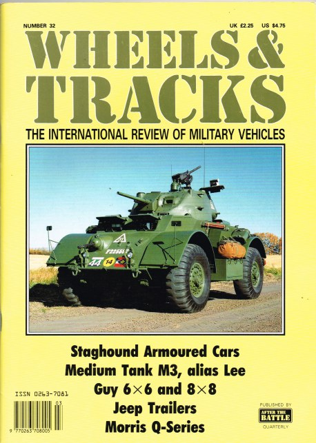 Image for WHEELS & TRACKS: THE INTERNATIONAL REVIEW OF MILITARY VEHICLES: NUMBER 32