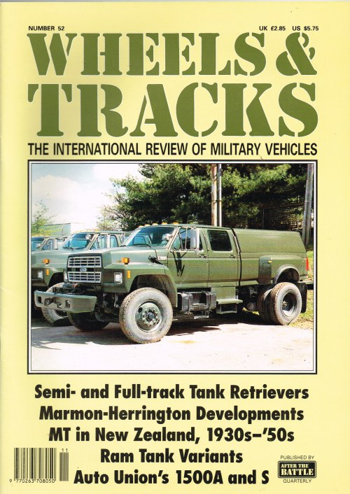 Image for WHEELS & TRACKS: THE INTERNATIONAL REVIEW OF MILITARY VEHICLES: NUMBER 52