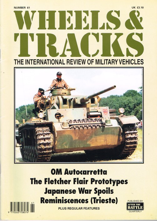 Image for WHEELS & TRACKS: THE INTERNATIONAL REVIEW OF MILITARY VEHICLES: NUMBER 61
