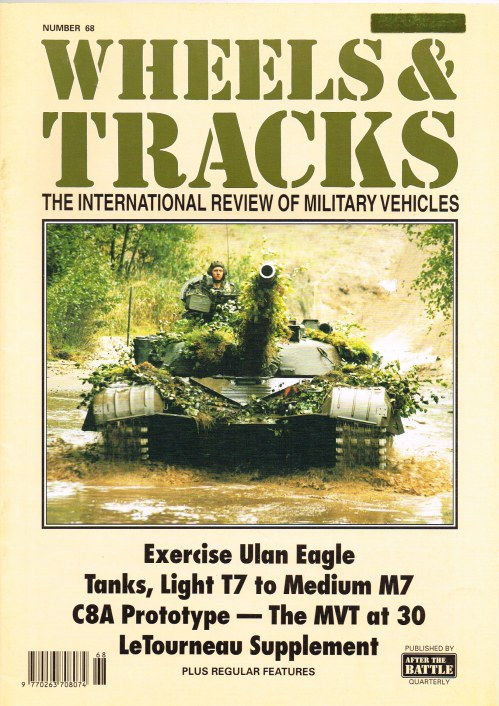 Image for WHEELS & TRACKS: THE INTERNATIONAL REVIEW OF MILITARY VEHICLES: NUMBER 68