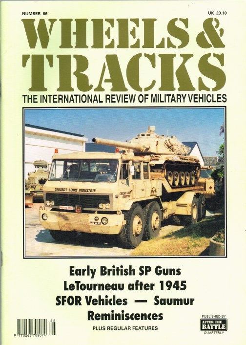 Image for WHEELS & TRACKS: THE INTERNATIONAL REVIEW OF MILITARY VEHICLES: NUMBER 66