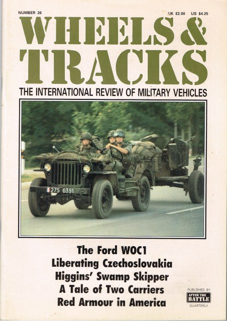 Image for WHEELS & TRACKS: THE INTERNATIONAL REVIEW OF MILITARY VEHICLES: NUMBER 26