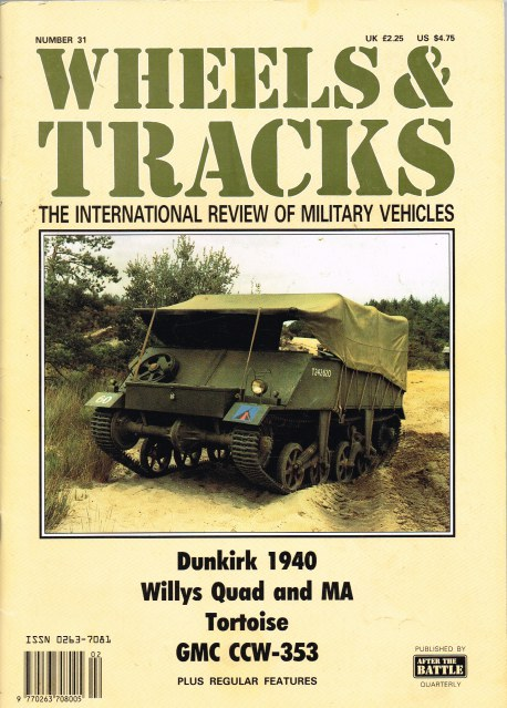 Image for WHEELS & TRACKS: THE INTERNATIONAL REVIEW OF MILITARY VEHICLES: NUMBER 31