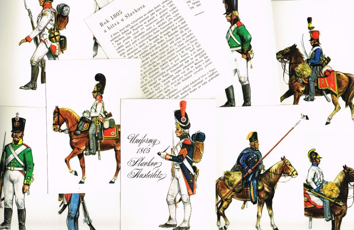 Image for UNIFORMY 1805 SLAVKOV AUSTERLITZ (SET OF 12 POSTCARDS)