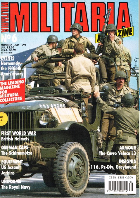 Image for MILITARIA MAGAZINE NO 6 : JULY 1994