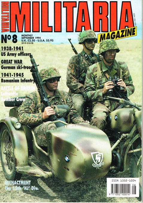 Image for MILITARIA MAGAZINE NO 8 : SEPTEMBER 1994