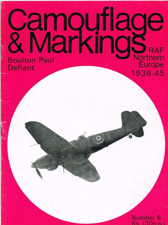 Image for CAMOUFLAGE & MARKINGS RAF NORTHERN EUROPE 1936-45 NO.8 : BOULTON PAUL DEFIANT FIGHTERS