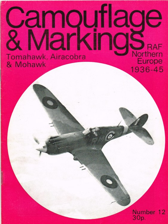 Image for CAMOUFLAGE & MARKINGS RAF NORTHERN EUROPE 1936-45 NO.12 : CURTISS MOHAWK, TOMAHAWK AND BELL AIRACOBRA