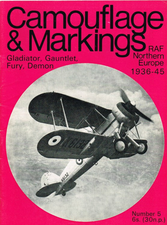 Image for CAMOUFLAGE & MARKINGS RAF NORTHERN EUROPE 1936-45 NO.5 : GLADIATOR, GAUNTLET, FURY, DEMON