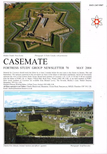 Image for CASEMATE FORTRESS STUDY GROUP NEWSLETTER NO.70 MAY 2004