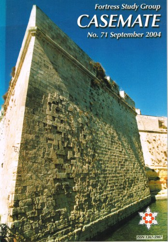 Image for CASEMATE FORTRESS STUDY GROUP NEWSLETTER NO.71 SEPTEMBER 2004
