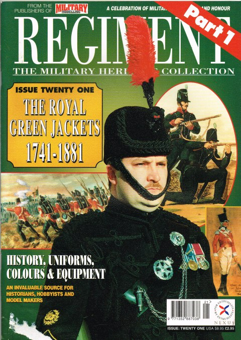 Image for REGIMENT: ISSUE TWENTY ONE - THE ROYAL GREEN JACKETS PART 1: 1741-1881
