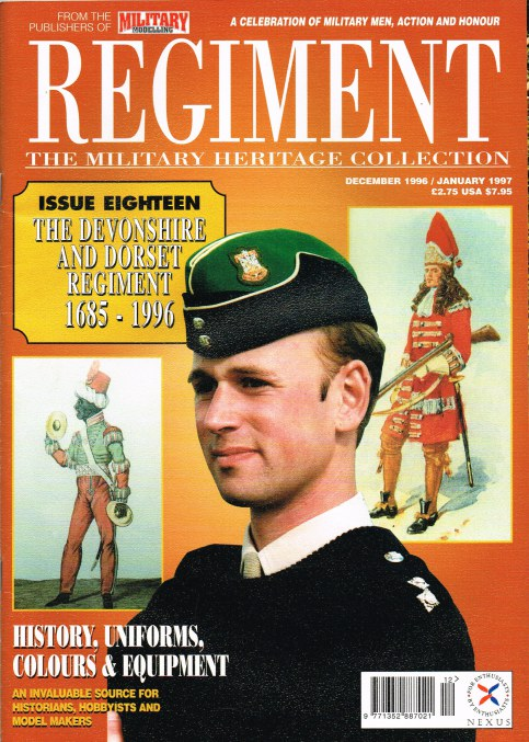Image for REGIMENT: ISSUE EIGHTEEN - THE DEVONSHIRE AND DORSET REGIMENT 1685-1996