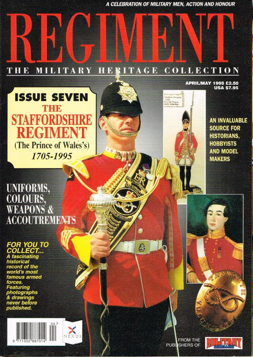 Image for REGIMENT: ISSUE SEVEN - THE STAFFORDSHIRE REGIMENT (THE PRINCE OF WALES'S) 1705-1995